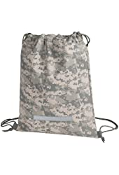 Heavy Duty Drawstring Backpack in Digital Camouflage Army Military Sack