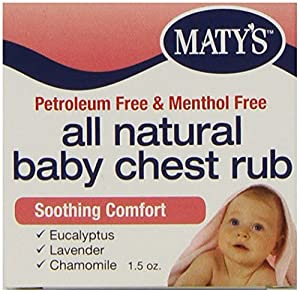 Amazon Com Matys All Natural Baby Chest Rub 1 5 Ounce