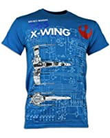 Star Wars X-Wing Fighter Haynes Manual Blue T-Shirt