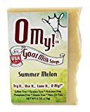 O My!Tm Summer Melon Goat Milk Soap All Natural, Palm Oil Free, Handmade Soap Made In Usa