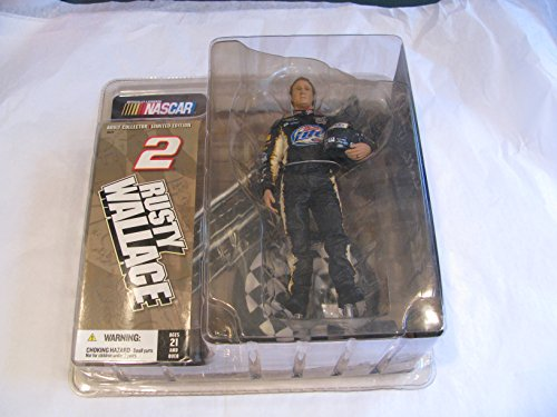Rusty Wallace #2 Miller Lite Mcfarlane Action Figure Adult Collector Edition