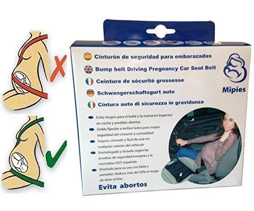 Cintura di sicurezza in gravidanza ● Cuscino da auto per donne in gravidanza con passanti per cintura di sicurezza ✮ protegge il bambino e la madre evitando il rischio di aborto