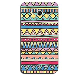 Mozine Yellow Blue Triangle Pattern printed mobile back cover for Samsung ga...