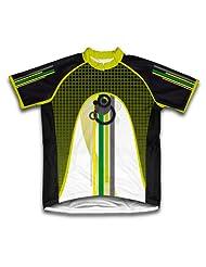 Green Sheme Short Sleeve Cycling Jersey for Women