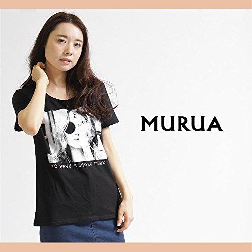 【MURUA(ムルーア)】タトゥ-レディTシャツFreeサイズブラック(09)