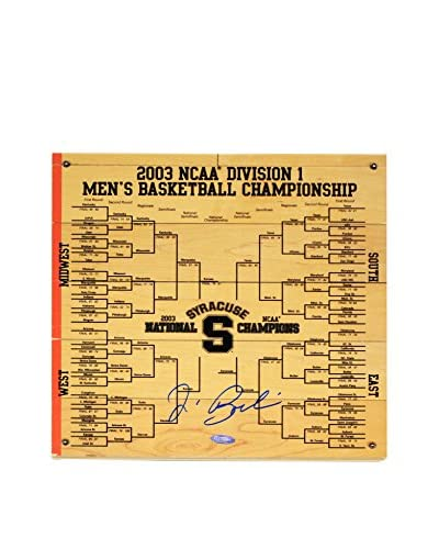 Steiner Sports Memorabilia Jim Boeheim Signed Syracuse Basketball Engraved Bracket, 12 x 12