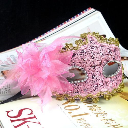 Nsstar Lace with Rhinestone Liles Venetian Mask Masquerade Halloween Costume