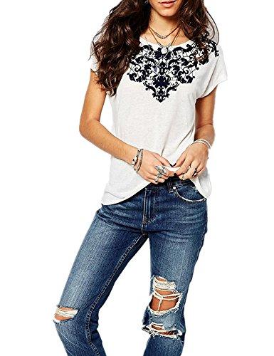 Haola Women's Summer Graphic Printed Short Sleeve T Shirt Cute Tops Juniors Tees