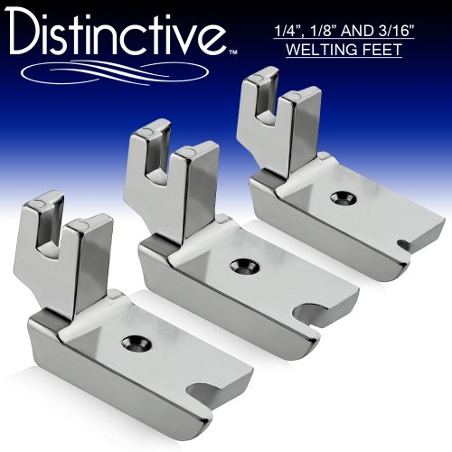 "Read About Distinctive 1-4"", 1-8"" and 3-16"" Large Piping/Welting Sewing Foot Package ..."