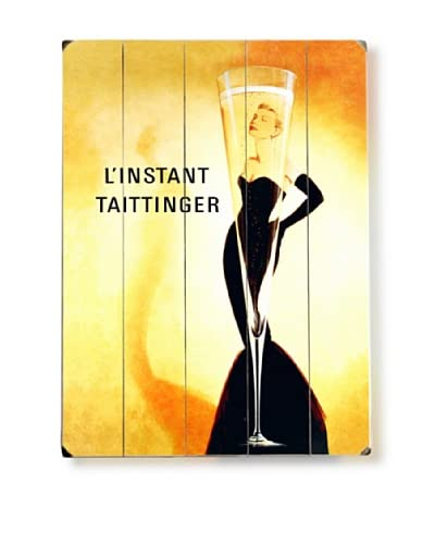 Artehouse L'Instant Taittinger Champagne Wood Wall Décor