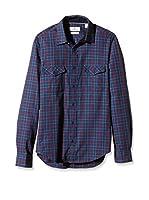Cortefiel Camisa Hombre (Azul Oscuro)