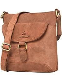 Leaderachi-100% Genuine Hunter Leather Crossbody Messenger Sling Bag [CANTAZARO]