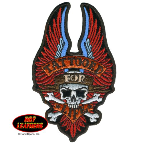 "Hot Leathers, TATTOOED FOR LIFE, with Skull and Wings, Iron-On / Saw-On, Heat Sealed Backing Rayon BIKER PATCH - 3"" x 5"""