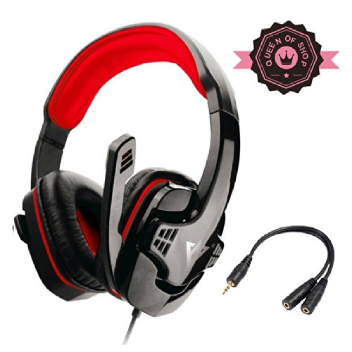 Me333 Black+Red Professional Usb Stereo Pc Games Headsets Headphones
