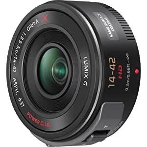 Panasonic Lumix G X Vario PZ 14-42mm/F3.5-5.6 Lens for Panasonic Lumix G-Series Digital Cameras (Black)