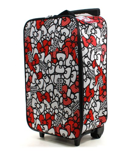 Sanrio Hello Kitty Ribbon Design Rolling Luggage Case  White Picture