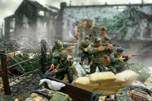 Buy Low Price Panache Place Unimax Forces of Valor 1:32 Scale U.S. Airborne Division D-Day Series Figure (B0013UB438)