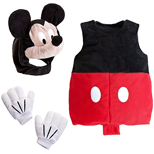 Disney Store Deluxe Mickey Mouse Plush Costume for Baby Size 12 - 18 Months