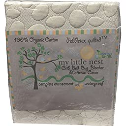 My Little Nest Organic/Waterproof PebbleTex Crib Mattress Pad