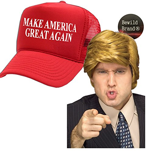 Donald Trump Costume Wig & Hat