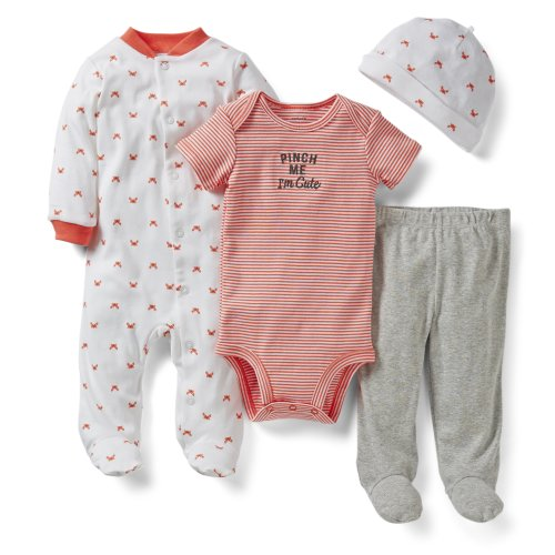 Carter'S Baby Boys' 4 Piece Layette Set - Red - Newborn front-48580