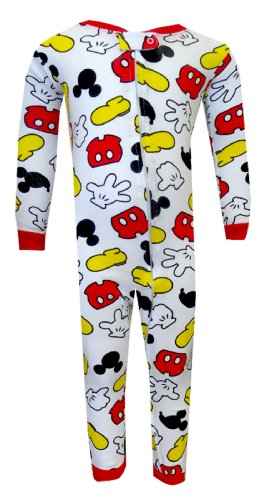 Disney Mickey Mouse Cotton Toddler Onesie Pajamas For Boys (3T) back-773183