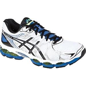 ASICS Men's Gel-Nimbus 16 Running Shoe,White/Black/Royal,9.5 M US
