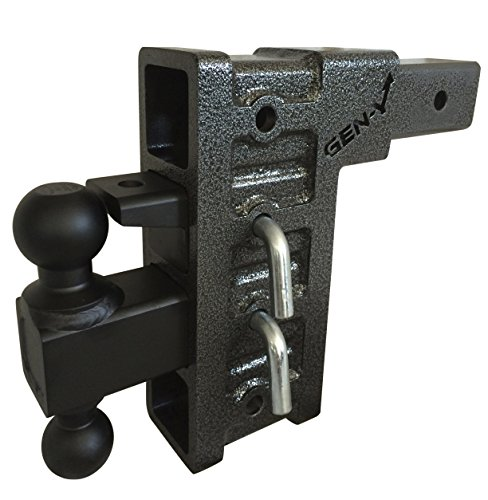 Check Out This GenY 624,2-1/2 Adjustable Pintle Combo,Class V 20,000 lb 4-RECEIVER,drop Hitch Class...