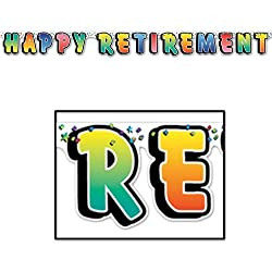 Happy Retirement Streamer Party Accessory (1 count) (1/Pkg)