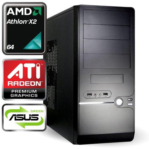 computerwerk - Office Komplett PC Brantford A - 2x 3.0 GHz AMD Athlon II X2 250, ASUS M5A78L-M LX , 2 GB [1x 2GB] DDR3-1333, 500 GB S-ATAIII, 22-fach Dual Layer DVD±RW, 1024 MB ATI Radeon HD3000, Starter 4, Silent SL 500 W