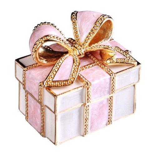 [ピィアース] PIEARTH 宝石箱 ジュエリーボックス プレゼントボックス(ピンクリボン) EX310-1