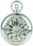 Woodford Skeleton Full-Hunter Pocket Watch, 1052, Men's Chrome-Finished Pierced with Chain (Suitable for Engraving)