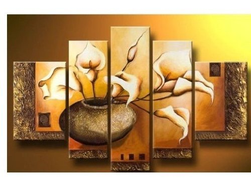 fly-spray-5-piece-100-hand-painted-oil-paintings-panels-stretched-framed-ready-hang-flora-flower-blo