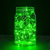 String Lights - Oak Leaf 2 Set of Micro 30 Leds Decorative Lights Copper Wire Fairy Starry String Lights for Home Bedroom Party Decoration Trees - Green