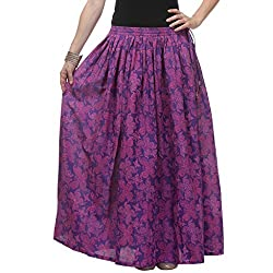 NIKA Cotton Hand Block Printed Long Skirt