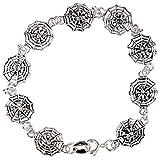 Spider & Web - Silver Bracelet