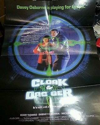 Cloak & Dagger Movie Poster Henry Thomas Dabney Coleman 18X24 Folded 1984