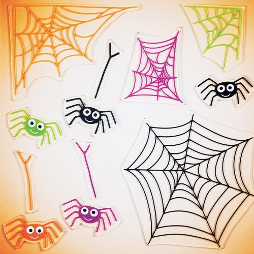 GelGems Smiling Spiders Large Bag Gel Clings - 1