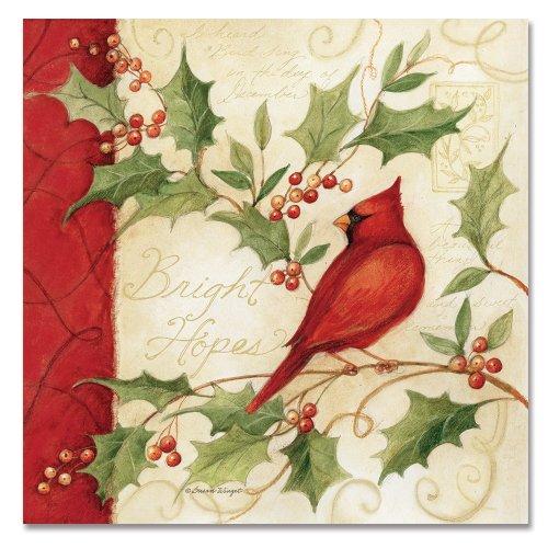 CounterArt Pulp Board Paper Coasters, Cardinal Winter Wonder
