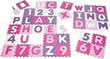 PLAYSHOES Puzzle Mat 36 pieces pastel/rosy