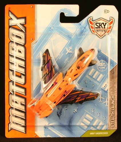 STEALTH LAUNCH * MBX UNDERCOVER * Die-Cast 2012 MATCHBOX Sky Busters Series Airplane