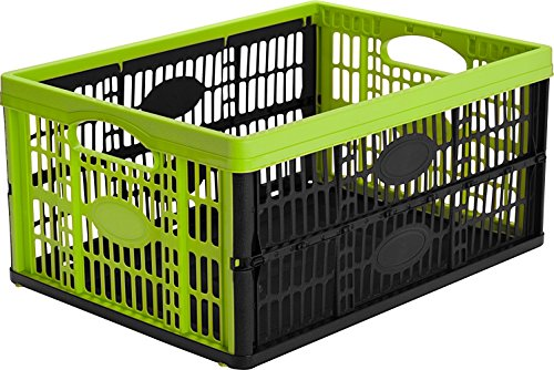 CleverMade CleverCrates Collapsible Storage Bin/Container: 32 Liter Utility Basket/Tote, Celery Green (Collapsible Storage Containers compare prices)