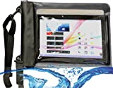 MiTAB Black Waterproof Case / Cover For 10 Inch Tablets Including The HP Slate 10 HD stand / HP Omni 10 stand / HP SlateBook X2 stand