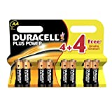 Duracell AA LR06 MN1500 8(4+4) plus power Batteries Exp 2018