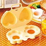 VWH Microwave Egg Steamer Heart and Flower Shaped