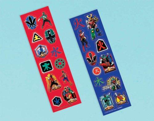 Imagen de Power Rangers Samurai Etiqueta Strips (8) (Rojo / Negro) Parte de accesorios