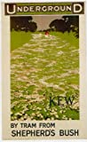 London Underground Poster Kew By Train From Shepherd's Bush - On Matte Paper A3 Size