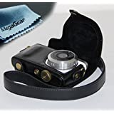 "MegaGear ""Ever Ready"" Protective Leather Camera Case, Bag for Samsung NX Mini with 9mm Lens Kit (Black)"