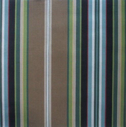 Carlton Stripe Walnut Brown Multi 84 Inch Long Cotton Shower Curtain Lined Curtain Store