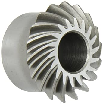 Boston Gear LSA-L Series Spiral Miter Gear, 1:1 Ratio, 20 Degree Pressure Angle, 35 Degree Spiral Angle, Plain Bore, Steel, Left Hand
